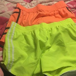 2 pairs athletic shorts